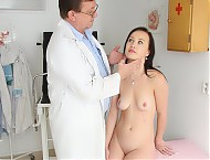 Agata gyno pussy speculum examination at gyno clinic by kinky female doctor