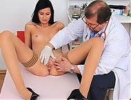 Beautiful czech babe Nella pelvic exam