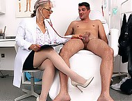 Stockings doctor MILF Alena big fat dick blowjob