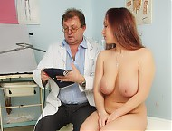 Andrea gyno speculum exam at bizarre gyn clinic by perverted female doctor