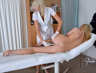 Nikki, 21 years. Inspection with abdomen and breasts exam, both holes checkup, vaginal ultrasound, perineum, two speculums and vibrator orgasm.