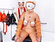 Rubber clinic patient sybian treatment