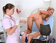 Jenny, 23 years girl gyno exam. Inspection with anal thermometer, feet exam, enema, vaginal depth, ultrasound, perrineum check-up, vibrator orgasm heartbeat, suppository and injections!