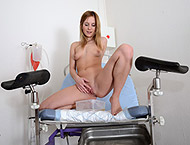Two female doctors doing examination each other! Checkup with enema, anal and fraenulum exam, speculum and lesbian orgasm heartbeat!
