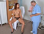 Ani Blackfox, 24 years girl gyno exam. Inspection with throat exam, physicals, doppler, vaginal and anal ultrasound, vaginal depth, two speculums, vibrator orgasm heartbeat and suppository