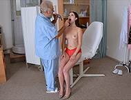 Krystal, 19 years girl doctor exam. Examination with measurements, breasts exam, heartbeat, physicals, anal and vaginal exam, vaginal ultrasound, enema, perineum and vibrator orgasm heartbeat.