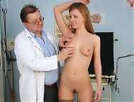 Viktorie pussy gyno speculum kinky exam at hospital by pervy physician