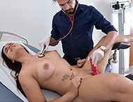 Carol, 23 years girl. Examination with feet and physicals, anal and vaginal exam enema, two speculums, vibrator heartbeat orgasm and suppository.