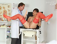 Barca gyno muff pussy spreader observation on gynochair at pervy clinic
