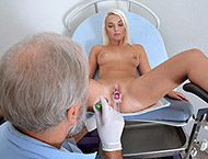 Lovita Fate, 21 years. Gynecological checkup with abdominal, breasts inspection, bimanual and anal exam, vaginal depth, urethral smear, two speculums, vibrator heartbeat orgasm and suppository.