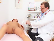 Madison experienced gyno gyno instrument exam on gynochair by milf doctor